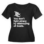 Stop piracy. Destroy the boat Women's Plus Size Sc