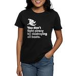 Stop piracy. Destroy the boat Women's Dark T-Shirt
