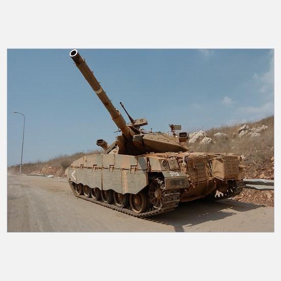 The Merkava Mark IV main battle tank of the Israel