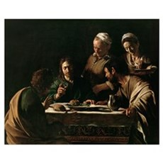 Supper at Emmaus, 1606 (oil on canvas) (see also 1 Poster