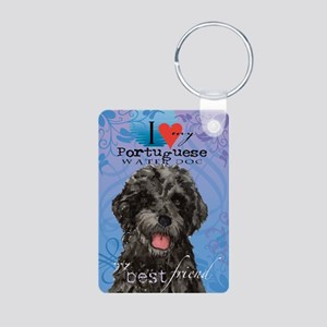 Portuguese Water Dog Aluminum Photo Keychain