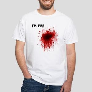 I'm Fine White T-Shirt