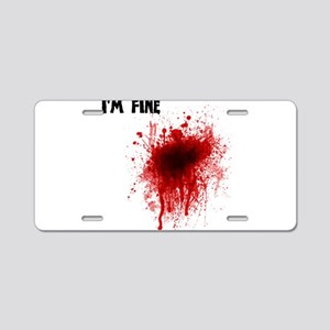 I'm Fine Aluminum License Plate