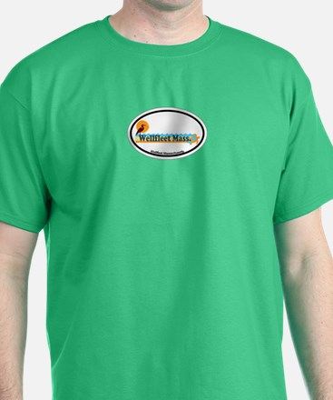 "Wellfleet MA ""Oval"" Design. T-Shirt"