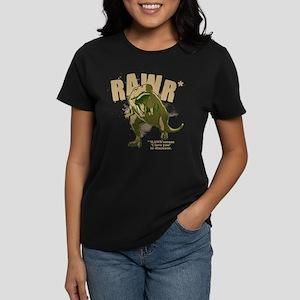 RAWR Dinosaur Women's Dark T-Shirt