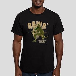 RAWR Dinosaur Men's Fitted T-Shirt (dark)