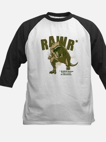 RAWR Dinosaur Kids Baseball Jersey