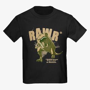 RAWR Dinosaur Kids Dark T-Shirt