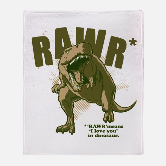 RAWR Dinosaur Throw Blanket