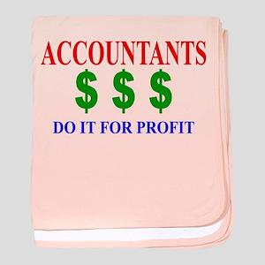 Accountants Do It baby blanket