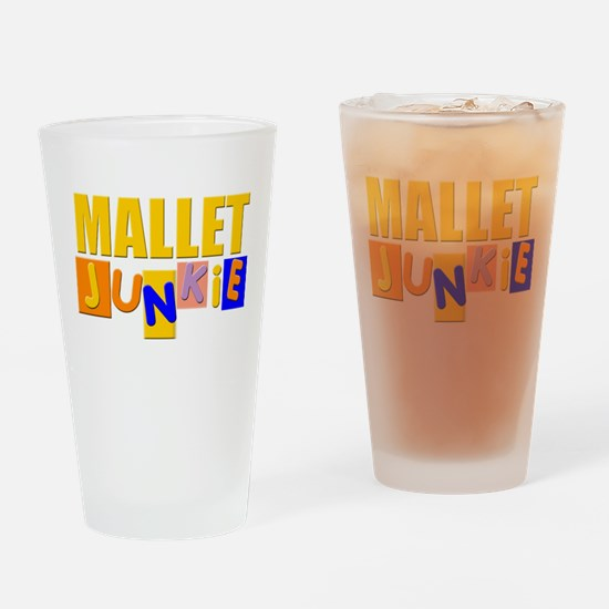 Mallet Junkie Drinking Glass