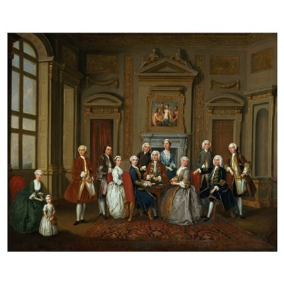 A Family in a Palladian Interior (The Tylney Group Framed Print