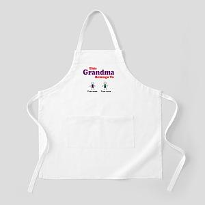 Personalized Grandma 2 boys Apron
