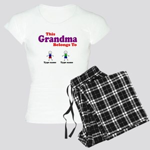Personalized Grandma 2 boys Women's Light Pajamas