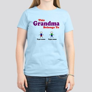Personalized Grandma 2 boys Women's Light T-Shirt