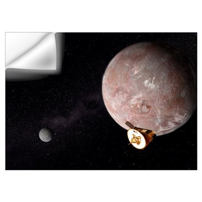 Artists concept of the New Horizons spacecraft fly Wall Decal