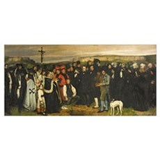 Burial at Ornans, 1849-50 (oil on canvas) Framed Print