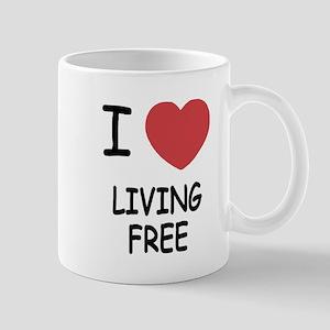 I heart living free Mug