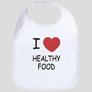 I heart healthy food Bib