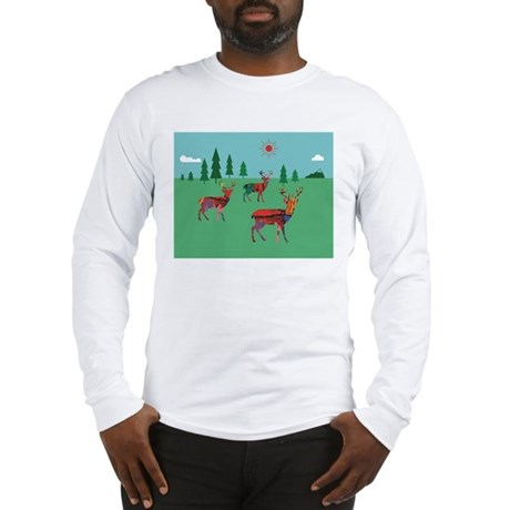 Deers in the Forest Long Sleeve T-Shirt
