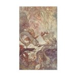 Dulac's Little Mermaid Rectangle Sticker