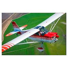 A Champion Aircraft Citabria in flight Poster