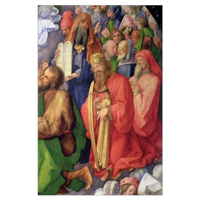 Landauer Altarpiece: King David, 1511 (panel) (det Poster