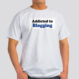 Addicted to Blogging Ash Grey T-Shirt
