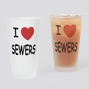 I heart sewers Drinking Glass