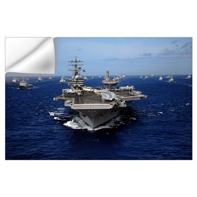 Aircraft carrier USS Ronald Reagan Wall Decal