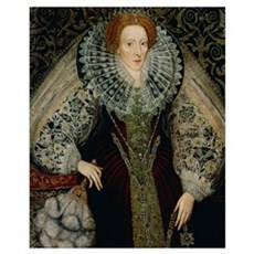 Queen Elizabeth I, c.1585-90 (panel) Framed Print
