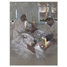 The Cardiologist Henri Vaquez (1860-1936) and his  Framed Print