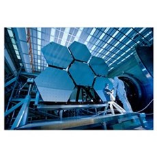 A James Webb Space Telescope array being tested in Framed Print