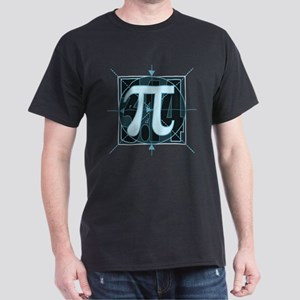 Pi Sign Drawing Dark T-Shirt
