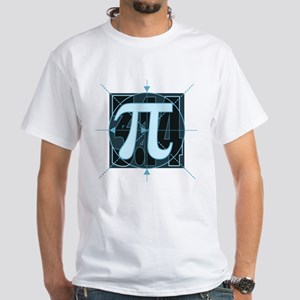 Pi Sign Drawing White T-Shirt