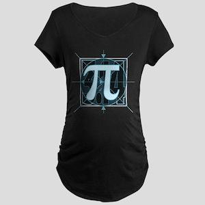 Pi Sign Drawing Maternity Dark T-Shirt