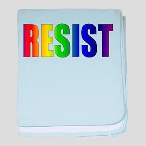 Rainbow Resist Trump baby blanket