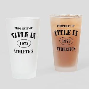 Title IX Drinking Glass