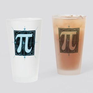 Pi Sign Drawing Drinking Glass
