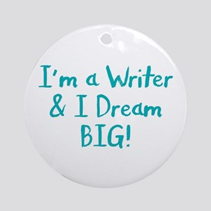 Writer Round Ornament