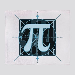 Pi Sign Drawing Throw Blanket