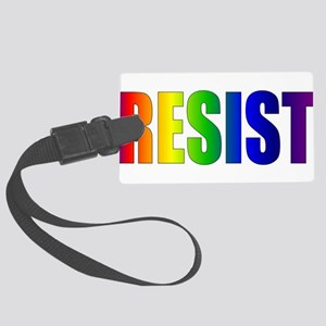 Rainbow Resist Trump Large Luggage Tag