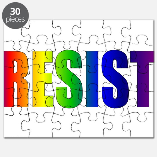 Rainbow Resist Trump Puzzle