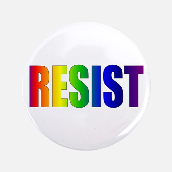 Rainbow Resist Trump Button