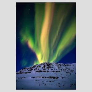 Aurora Borealis over Toviktinden Mountain in Troms