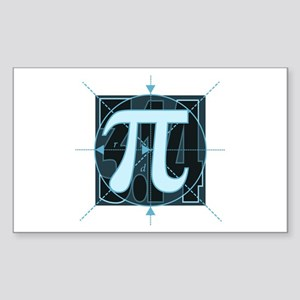 Pi Sign Drawing Sticker (Rectangle)