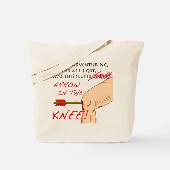 Cute Arrow to the knee Tote Bag