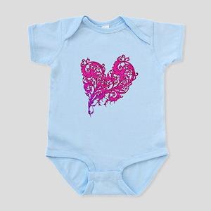 Floral Valentines Day Heart Infant Bodysuit