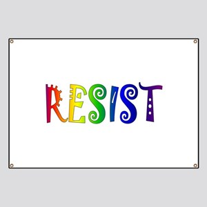 Rainbow Resist Trump Banner