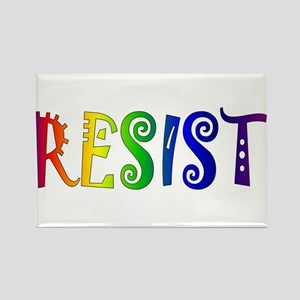 Rainbow Resist Trump Magnets